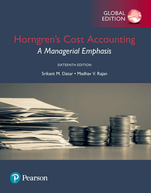 Standalone MyLab Accounting with eBook Student Access Code [12-month validity] - Horngren's Cost Accounting 16/E Global Edition (No Print Book), ISBN: 9781292211565